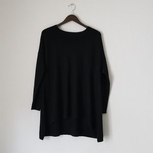 Eileen Fisher 100% merino wool black tunic